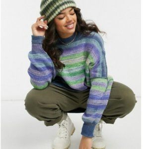 Free People Easy Street Space Dye Pullover Sweater